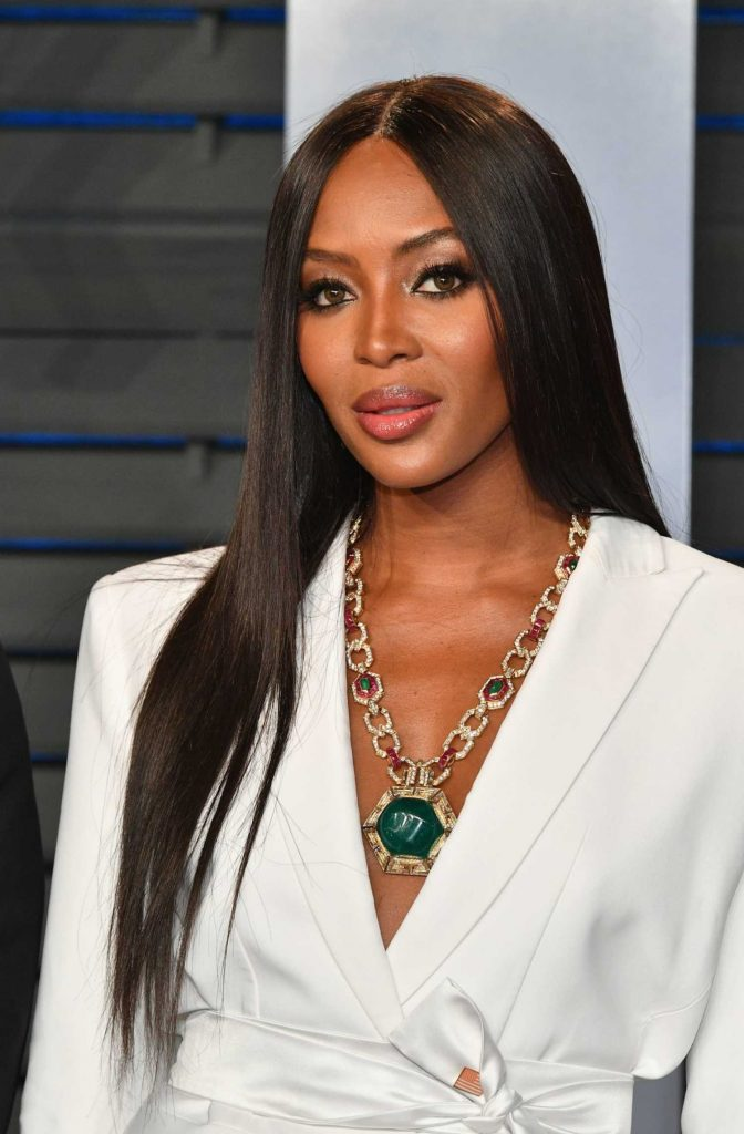 Naomi Campbell At 2018 Vanity Fair Oscar Party In Beverly