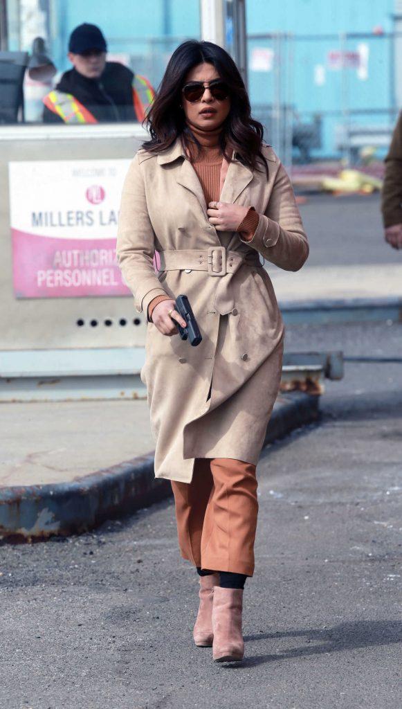 Priyanka Chopra on the Set of Quantico in New York City-1