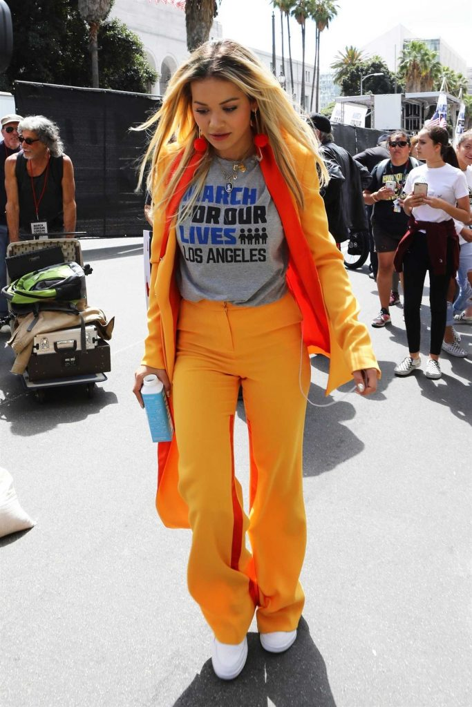 Rita Ora Arrives at the March for Our Lives in Los Angeles-1