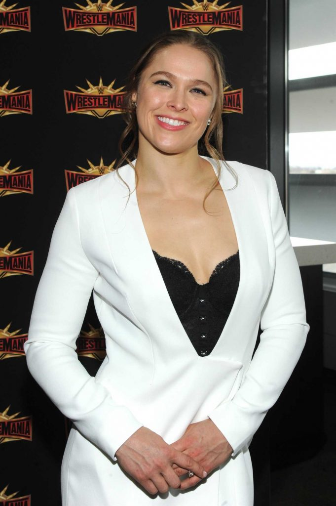 Ronda Rousey at the WWE Wrestlemania 35 Press Conference in East Rutherford-3
