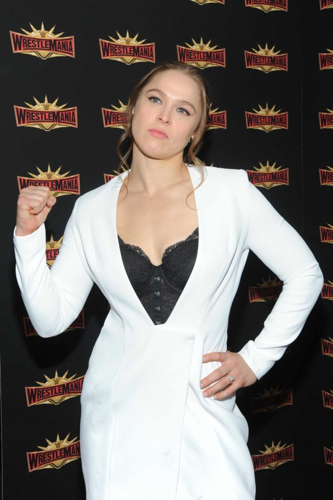 Ronda Rousey at the WWE Wrestlemania 35 Press Conference in East Rutherford-4