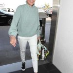 Sharon Stone Signs Autographs at LAX Airport in Los Angeles