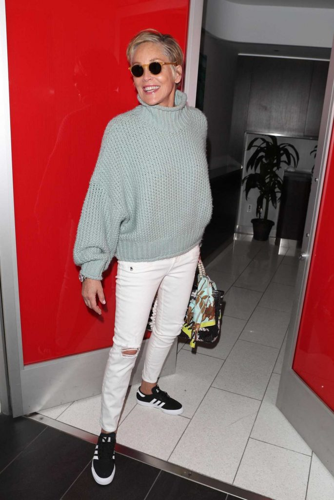 Sharon Stone Signs Autographs at LAX Airport in Los Angeles-2