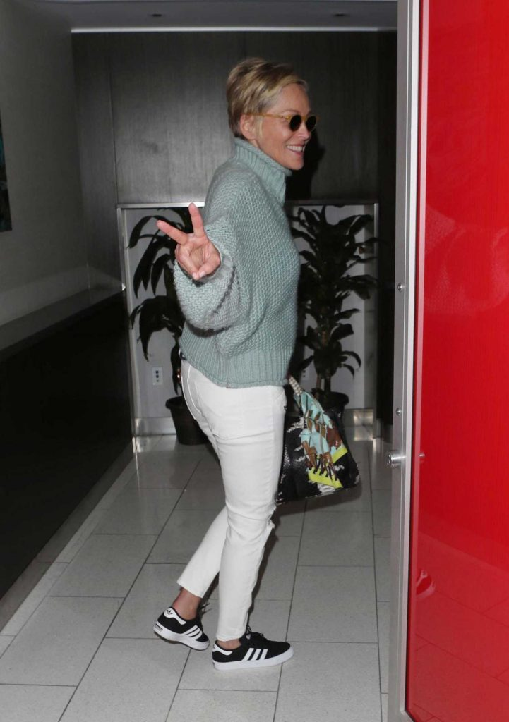 Sharon Stone Signs Autographs at LAX Airport in Los Angeles-3