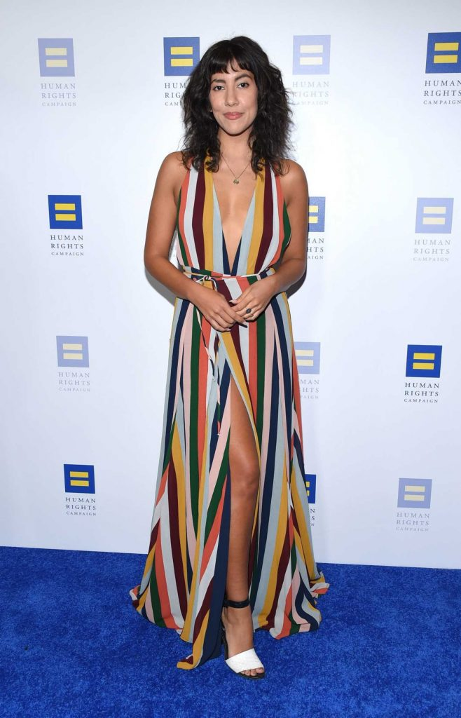 Stephanie Beatriz at 2018 Human Rights Campaign Dinner in Los Angeles-1