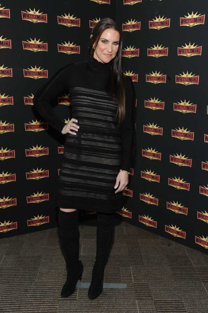 Stephanie McMahon at the WWE Wrestlemania 35 Press Conference in East Rutherford-1