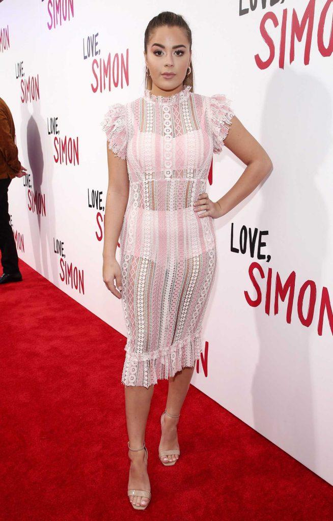 Tessa Brooks at the Love, Simon Premiere in Los Angeles-1