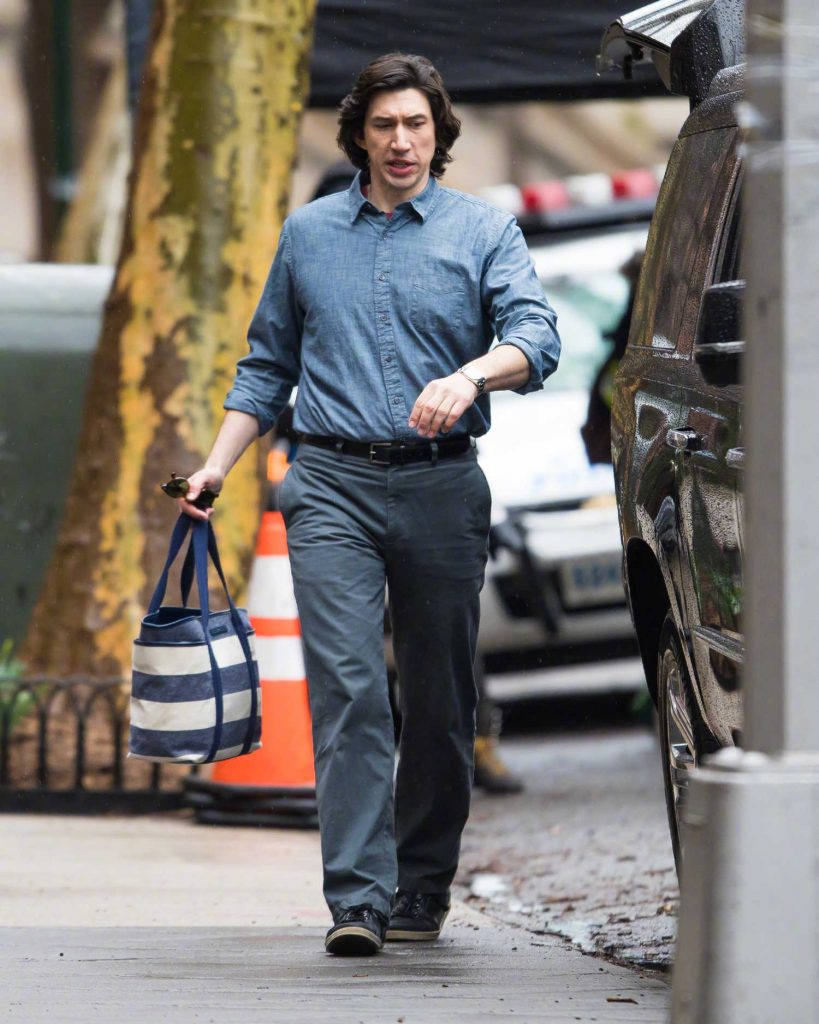 Adam Driver on the Set of Untitled Noah Baumbach Project in Park Slope in Brooklyn-3