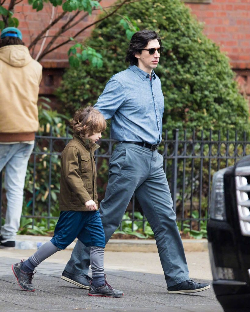 Adam Driver on the Set of Untitled Noah Baumbach Project in Park Slope in Brooklyn-4