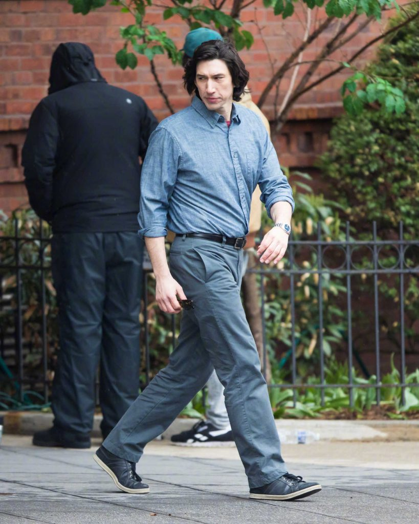 Adam Driver on the Set of Untitled Noah Baumbach Project in Park Slope in Brooklyn-5