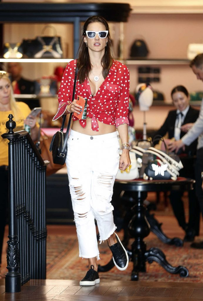 Alessandra Ambrosio at the Gucci Store on Rodeo Drive in Beverly Hills-1