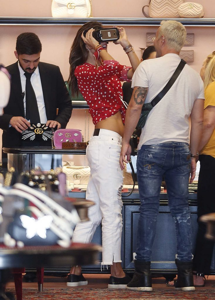Alessandra Ambrosio at the Gucci Store on Rodeo Drive in Beverly Hills-3