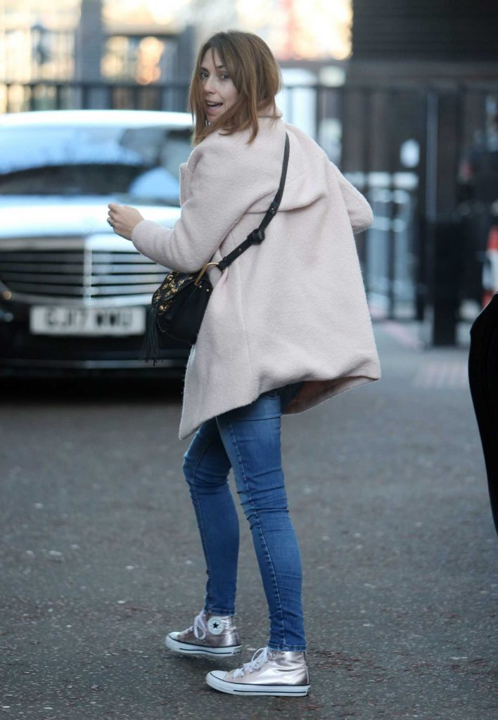 Alex Jones Leaves ITV Studios in London-4