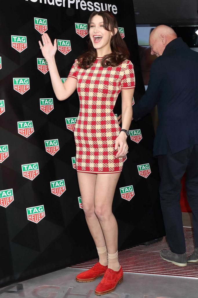 Bella Hadid at the TAG Heuer Ginza Boutique Opening Ceremony in Tokyo-3