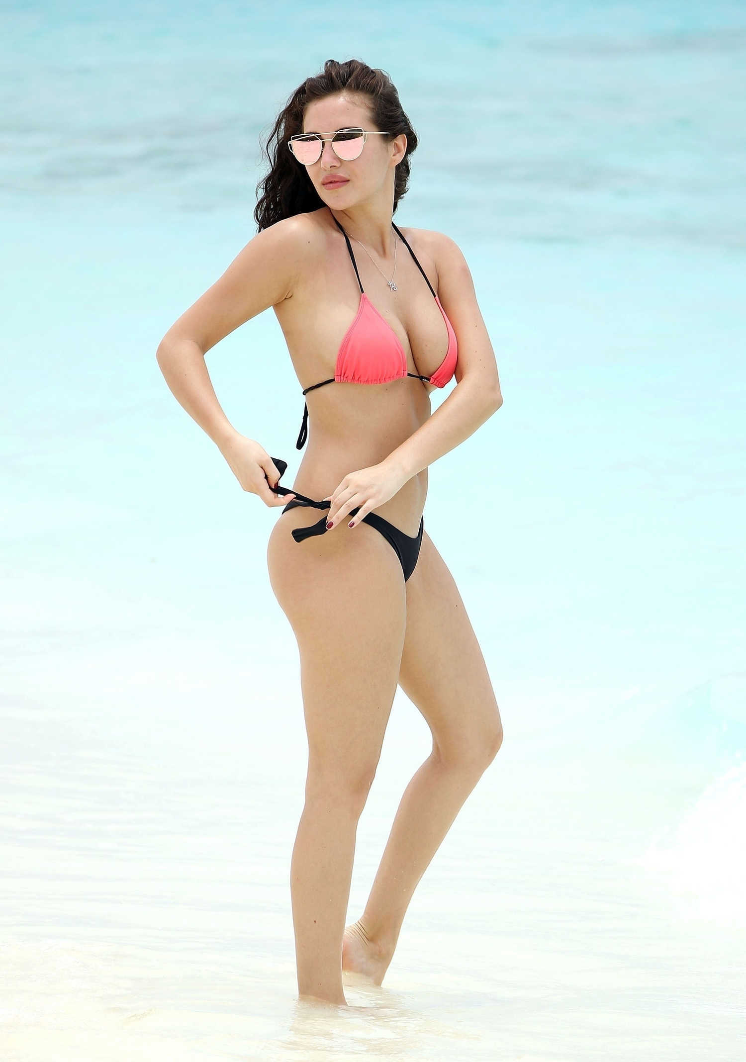 Chloe Goodman In Bikini On Beach In Dubai