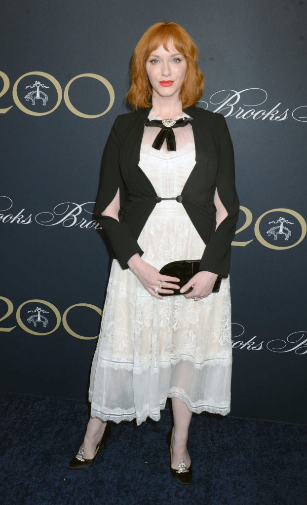 Christina Hendricks at the Brooks Brothers Bicentennial Celebration in New York-1