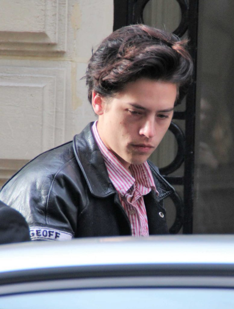 cole sprouse leaves her hotel in paris  u2013 celeb donut
