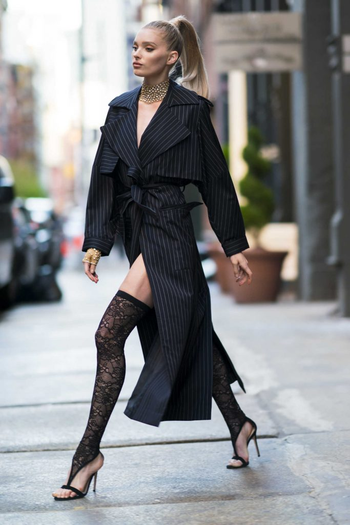 Elsa Hosk Wears Jacob and Co Jewelry Out in New York City-2