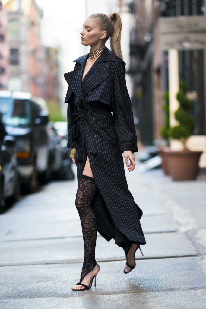 Elsa Hosk Wears Jacob and Co Jewelry Out in New York City-4