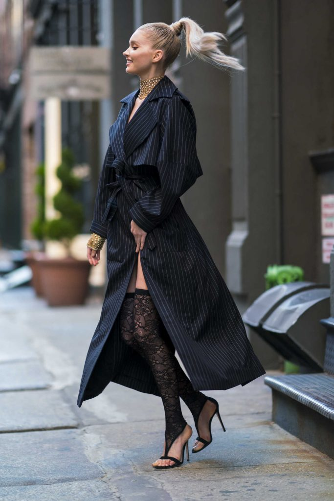 Elsa Hosk Wears Jacob and Co Jewelry Out in New York City-5