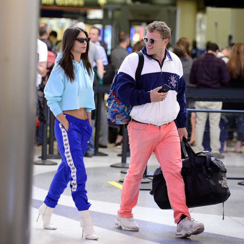 Emily Ratajkowski Arrives in Los Angeles with Her Husband-1