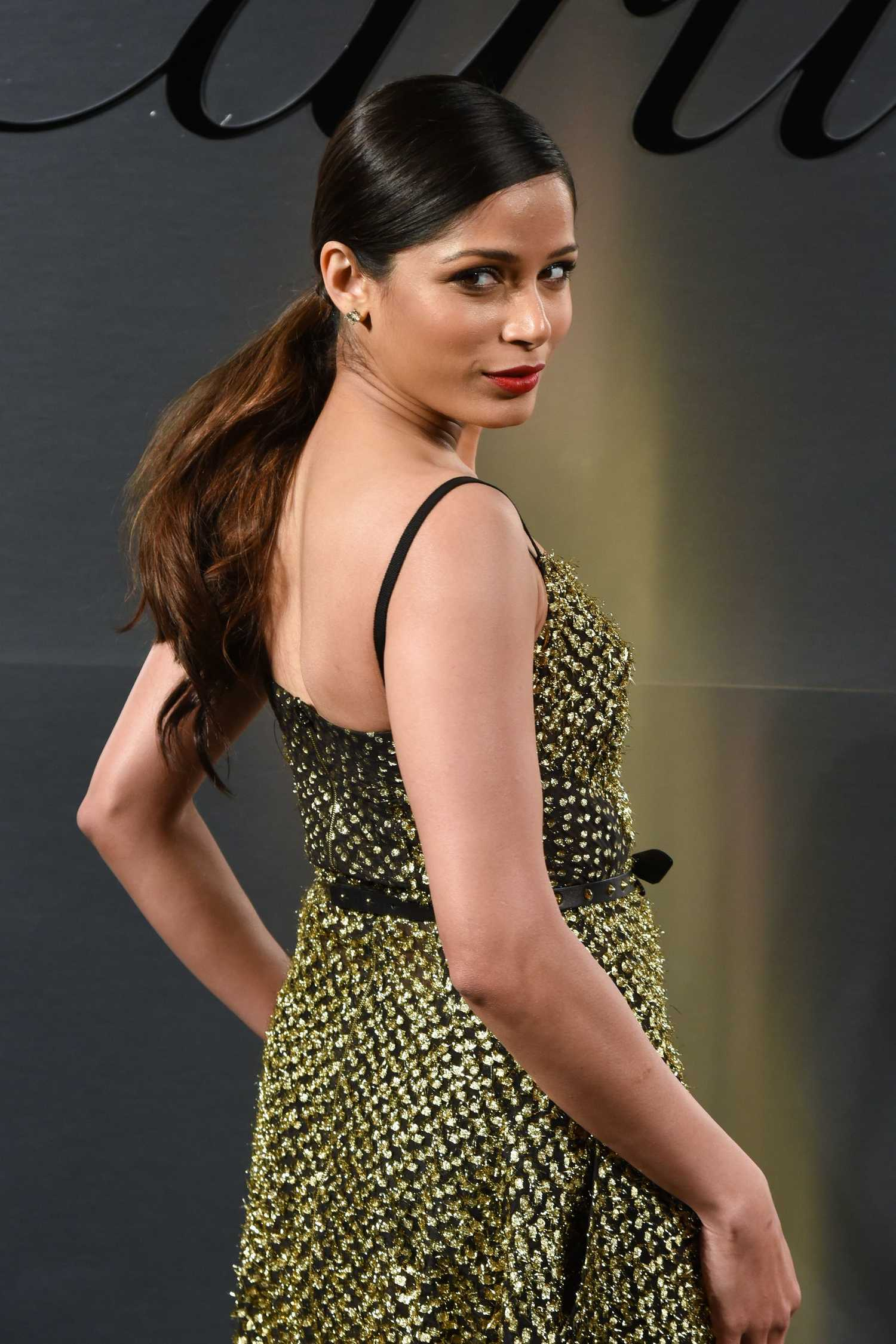 Freida Pinto at the Cartier's Bold and Fearless ...