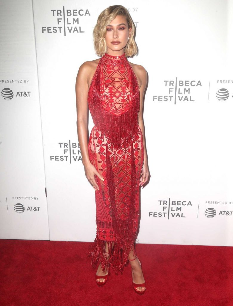 Hailey Baldwin at The American Meme Premiere During the Tribeca Film Festival in New York City-1