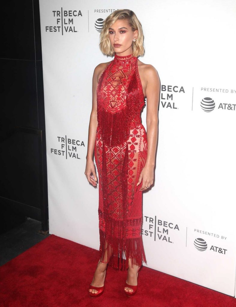 Hailey Baldwin at The American Meme Premiere During the Tribeca Film Festival in New York City-2