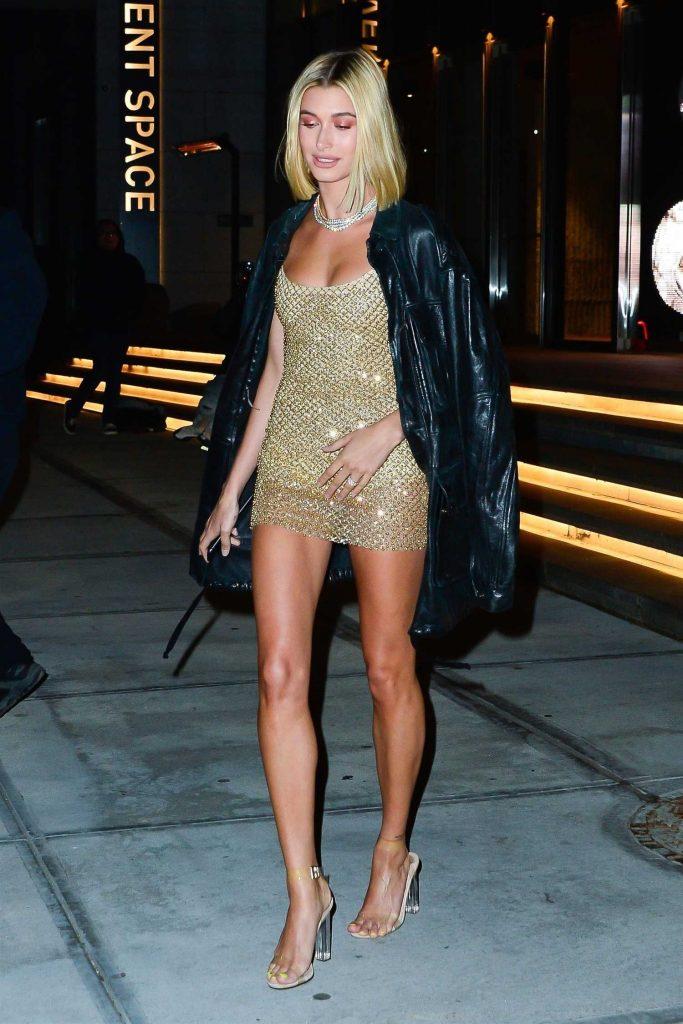 Hailey Baldwin Leaves Gigi Hadid's 23rd Birthday Celebration in New York-1