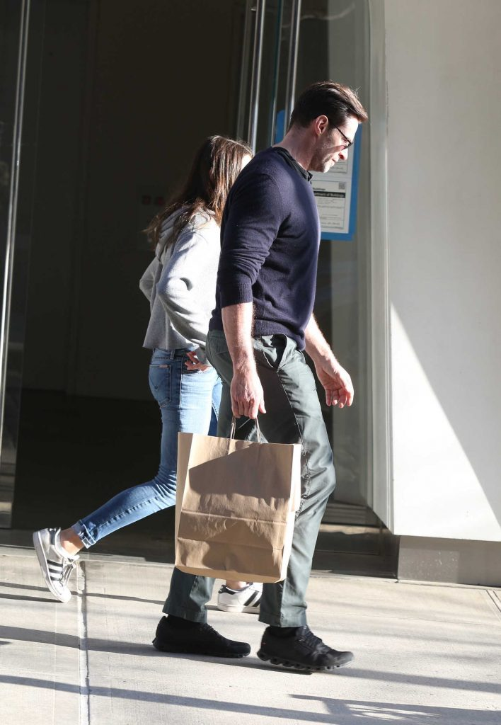 Hugh Jackman Out Shopping with His Daughter Ava in the West Village in New York City-1