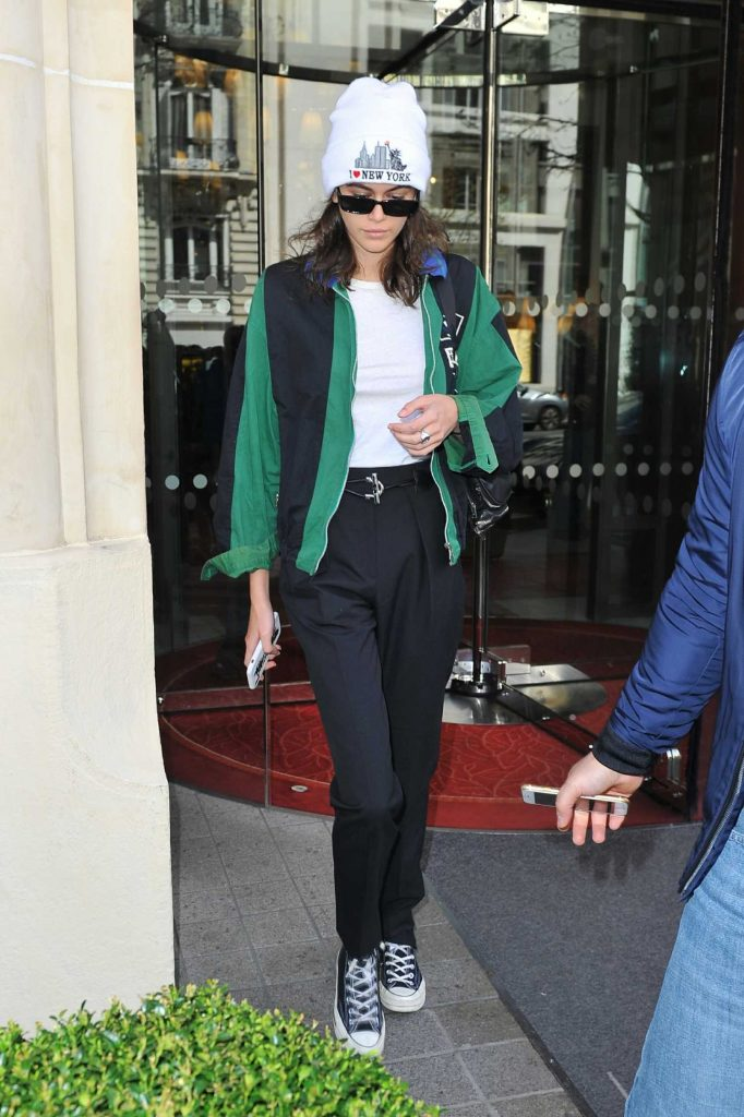 Kaia Gerber Leaves Her Hotel in Paris-1