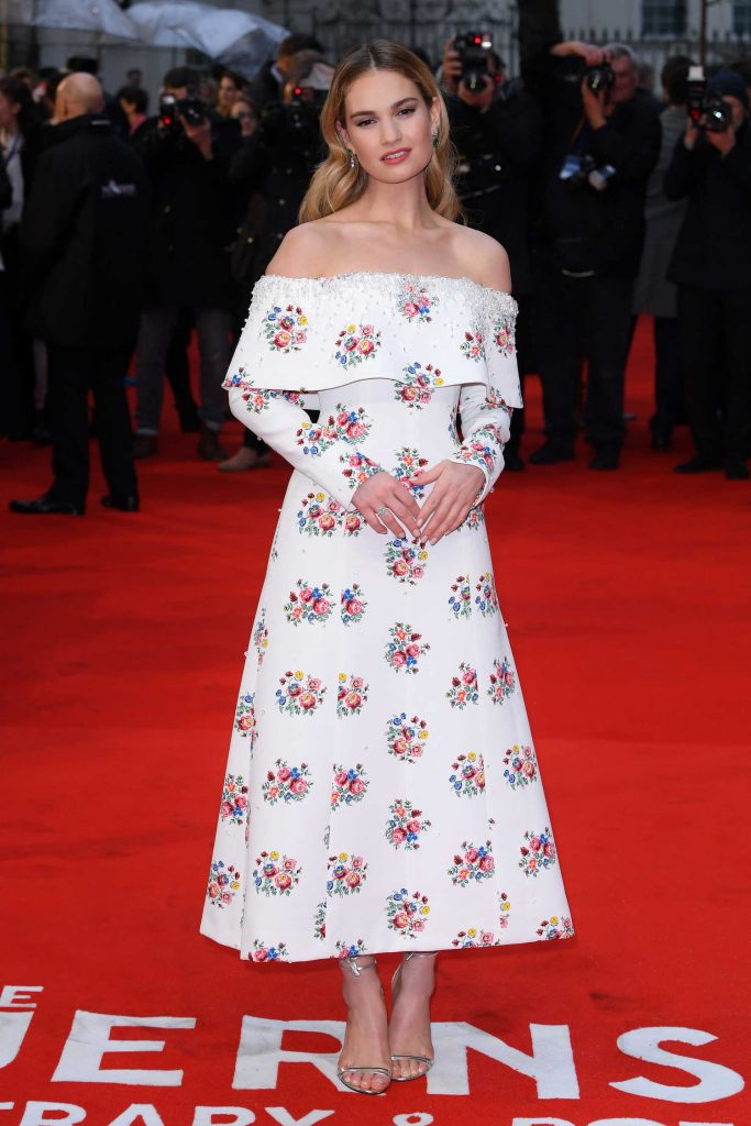 Lily James at The Guernsey Literary and Potato Peel Pie Society Premiere in London-2