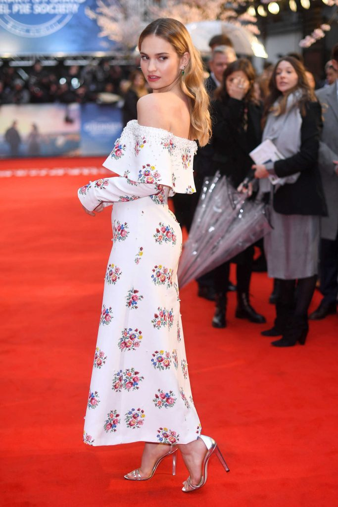 Lily James at The Guernsey Literary and Potato Peel Pie Society Premiere in London-4