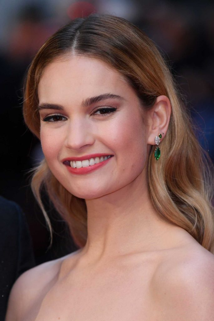 Lily James at The Guernsey Literary and Potato Peel Pie Society Premiere in London-5