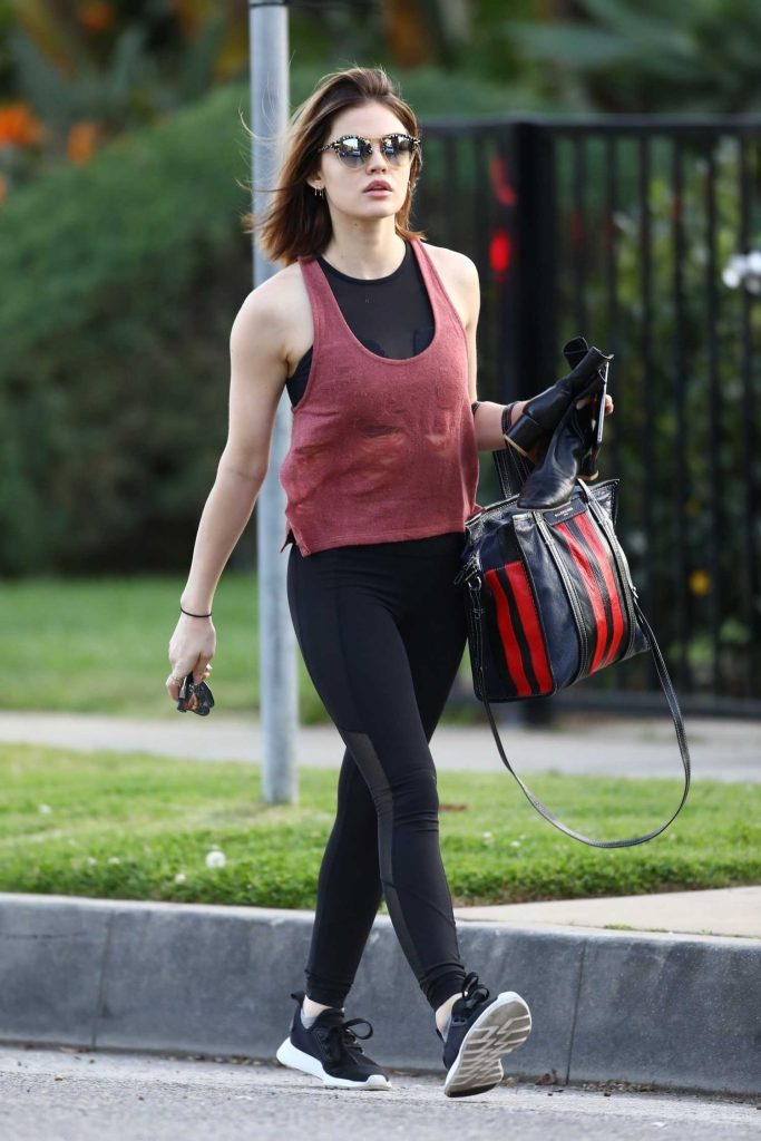 Lucy Hale Makes a Trip to the Gym in LA-1
