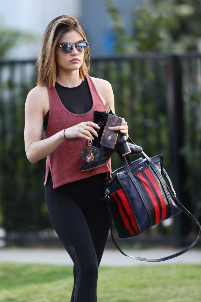 Lucy Hale Makes a Trip to the Gym in LA-5