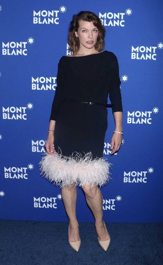 Milla Jovovich at the Montblanc Celebrates 75th Anniversary of Le Petit Prince in New York-1