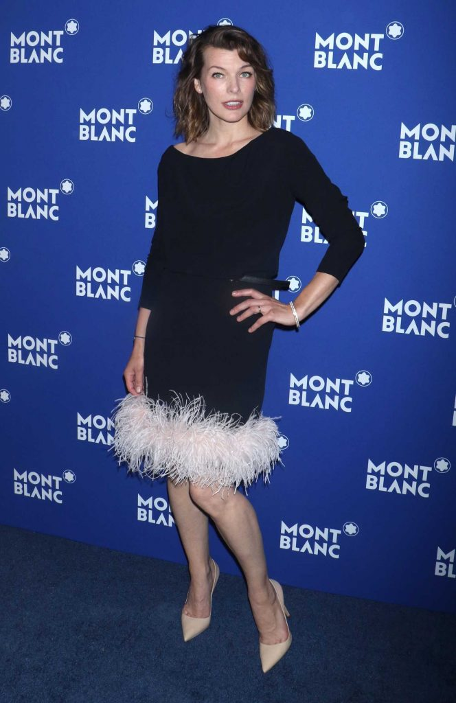 Milla Jovovich at the Montblanc Celebrates 75th Anniversary of Le Petit Prince in New York-2