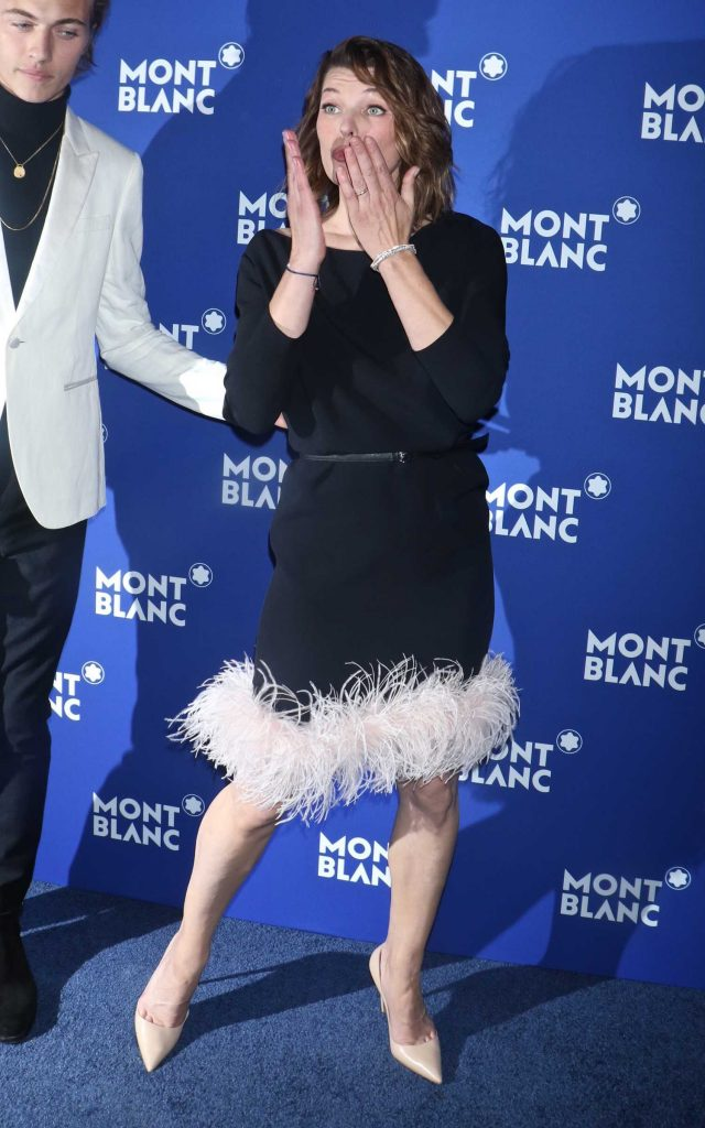 Milla Jovovich at the Montblanc Celebrates 75th Anniversary of Le Petit Prince in New York-3