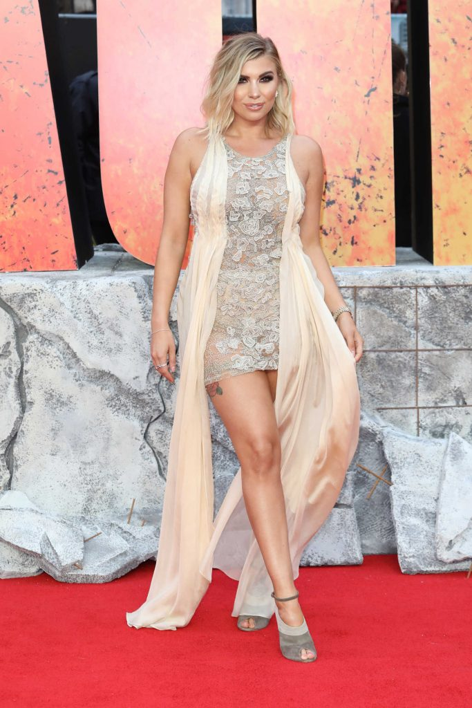 Olivia Buckland at the Rampage Premiere in London-1