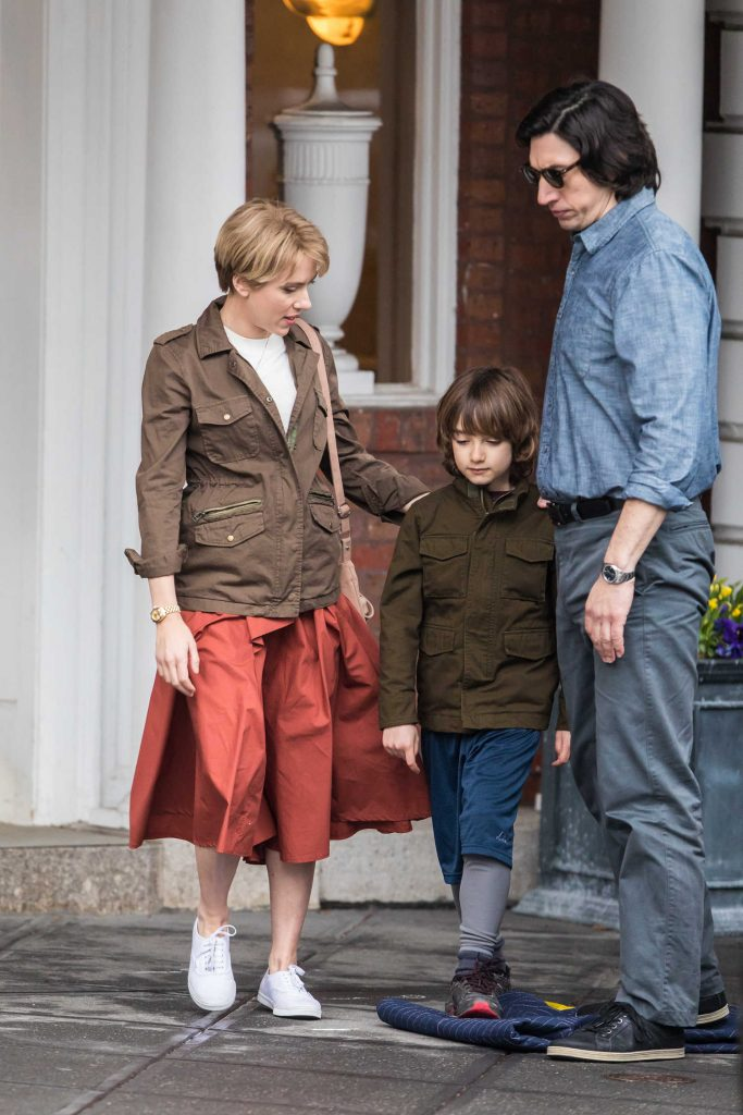 Scarlett Johanssonon on the Set of Untitled Noah Baumbach Project in Park Slope in Brooklyn-5