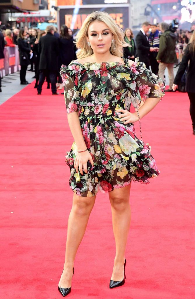 Tallia Storm at the Rampage Premiere in London-2