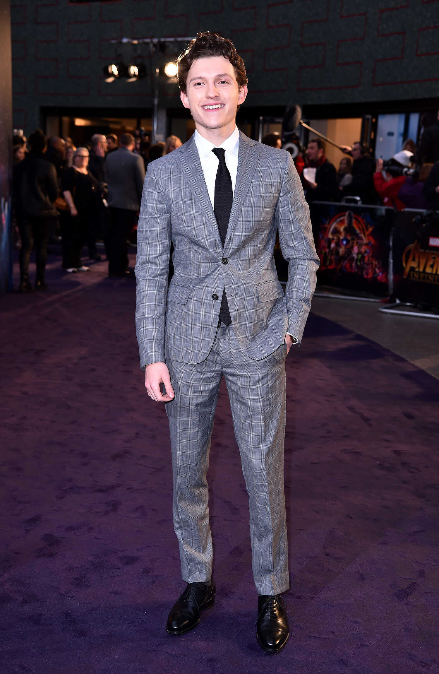 Tom Holland at Avengers: Infinity War Fan Screening in ...