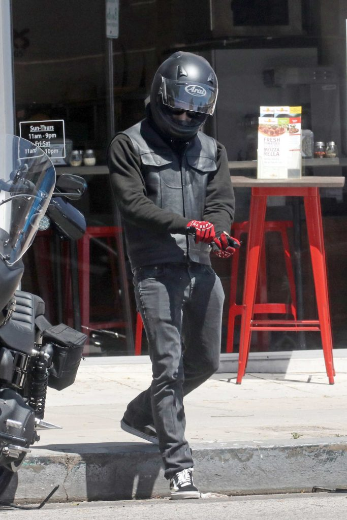 Tyler Posey Was Spotted out in His Motorcycle in Los Angeles-3