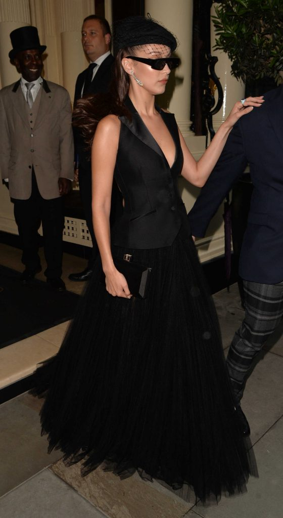 Bella Hadid Arrives at the Dior Backstage Launch Party in London-2