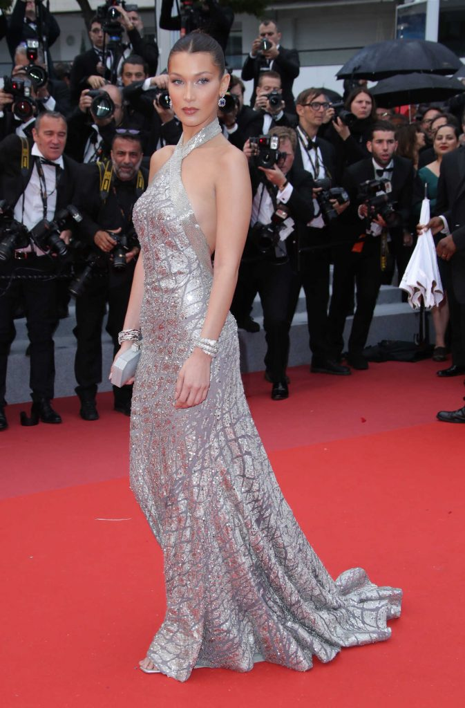 Bella Hadid at the Blackkklansman Premiere During the 71st Cannes Film Festival in Cannes-2