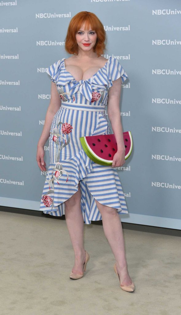 Christina Hendricks at NBCUniversal Upfront Presentation in New York City-1