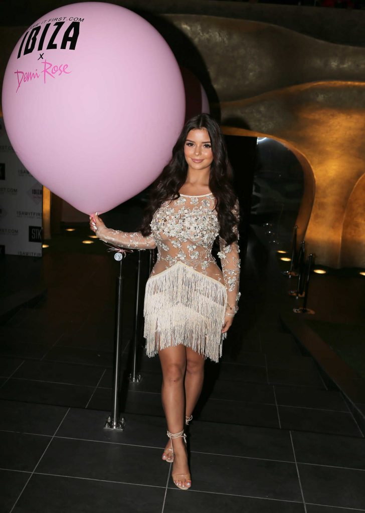 Demi Rose at Isawitfirst.com Demi Rose Collection Launch at STK Ibiza-4