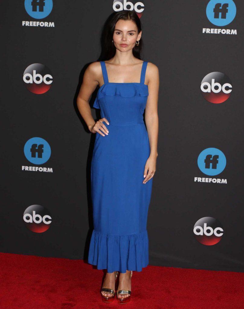 Eline Powell at Disney ABC Upfront Presentation in New York City-1