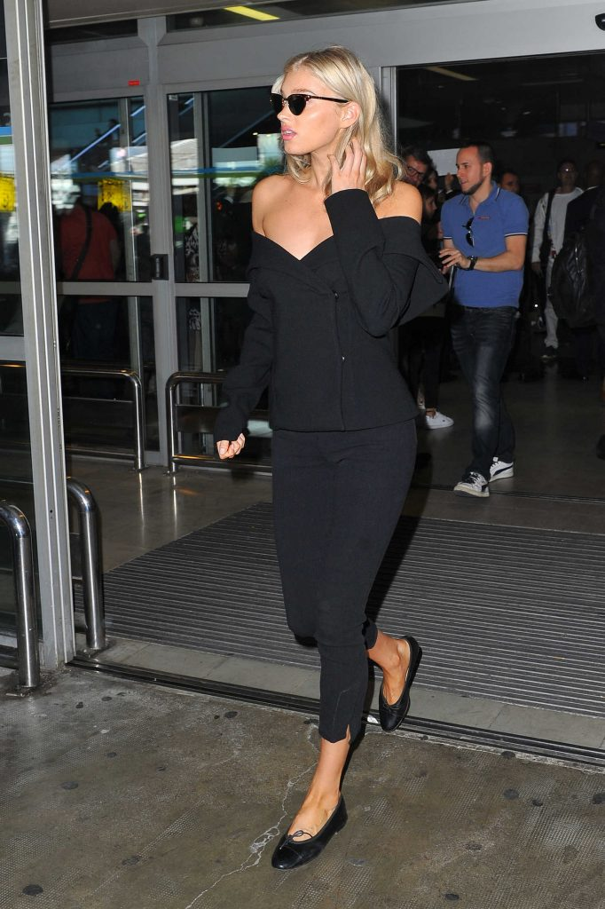 Elsa Hosk Arrives at the Cote D'Azur Airport in Nice-1